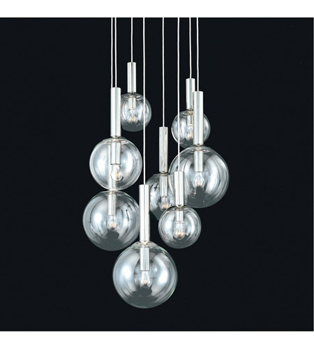 Sonneman 3768.35 Bubbles 8 Light 23 inch Polished Nickel Pendant Ceiling Light photo