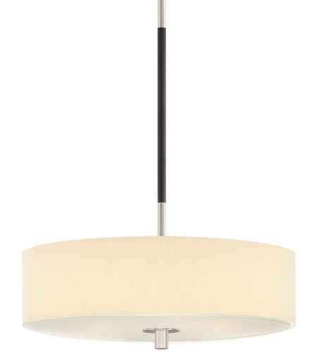 Sonneman Lighting Sparte 3 Light Pendant in Satin Nickel w/Black 3994.55 photo