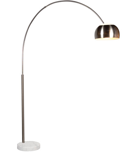 Sonneman 4096.13G Arc 79 inch 100 watt Satin Nickel Floor Lamp Portable Light photo