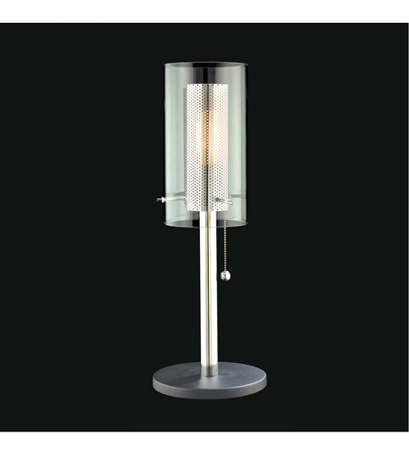 Sonneman Zylinder 1 Light Table Lamp in Polished Chrome and Satin Black 4392.57 photo