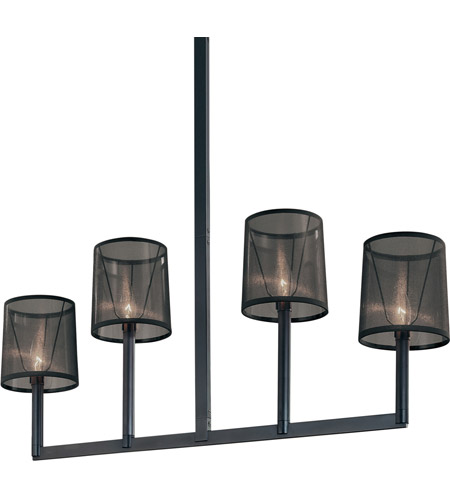 Sonneman Lighting Silhouette 4 Light Pendant in Satin Black 4484.25 photo