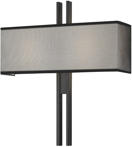 Sonneman 4522.25 Tandem 2 Light 18 inch Satin Black ADA Sconce Wall Light photo