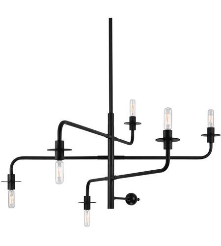 Sonneman Atelier 6 Light Pendant in Satin Black 4546.25 photo
