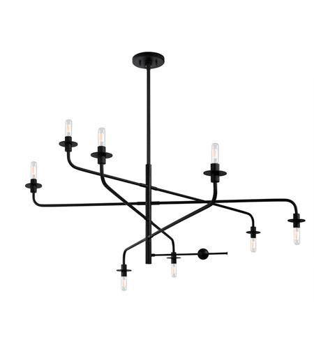 Sonneman Atelier 8 Light Pendant in Satin Black 4548.25 photo