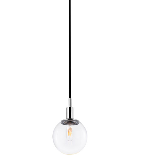 Sonneman 4591.01C Orb 1 Light 6 inch Polished Chrome Pendant Ceiling Light in Clear Glass photo