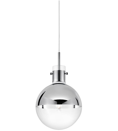 Sonneman 4781.01 Apollo 1 Light 10 inch Polished Chrome Pendant Ceiling Light  photo
