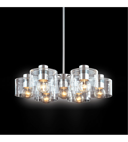 Sonneman Transparence 7 Light Pendant in Polished Chrome 4807.01 photo