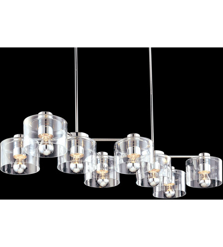 Sonneman 4808.01 Transparence 8 Light 17 inch Polished Chrome Pendant Ceiling Light photo