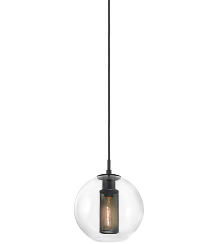 Sonneman 4932.97 Tribeca 1 Light 10 inch Textured Black Pendant Ceiling Light photo