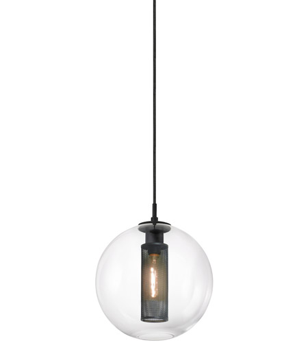 Sonneman 4933.97 Tribeca 1 Light 12 inch Textured Black Pendant Ceiling Light photo