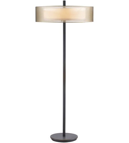 Sonneman Puri 3 Light Floor Lamp in Black Brass 6016.51 photo