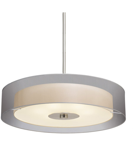 Sonneman Puri 6 Light Pendant in Satin Nickel 6020.13 photo