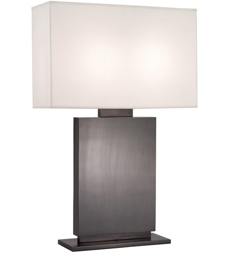 Sonneman Plinth 2 Light Table Lamp in Black Brass 6045.51 photo