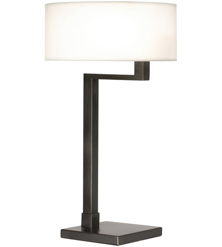Sonneman Quadratto 2 Light Table Lamp in Black Brass 6080.51 photo