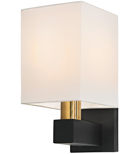 Sonneman 6120.43 Cubo 1 Light 6 inch Natural Brass and Black Sconce Wall Light photo