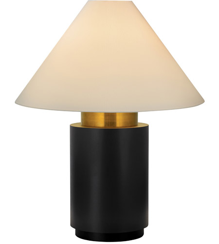 Sonneman 6124.43 Tondo 38 inch 100 watt Natural Brass and Black Table Lamp Portable Light photo