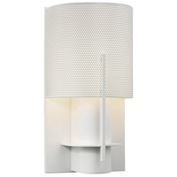 Sonneman Lighting Oberon 1 Light Sconce in Satin White 1710.03PF