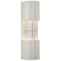 Sonneman Lighting Oberon 2 Light Sconce in Satin White 1712.03MF