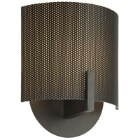 Sonneman Lighting Scudo 1 Light Sconce in Black Bronze 1728.32PF