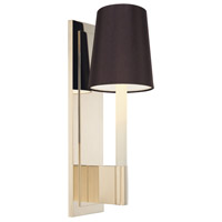 Sottile 1 Light 5 inch Polished Nickel Sconce Wall Light in Black Silk Shantung