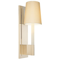 Sottile 1 Light 5 inch Polished Nickel Sconce Wall Light in White Silk Shantung