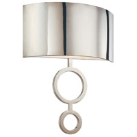 Dianelli 2 Light 16 inch Polished Nickel ADA Sconce Wall Light in GU24