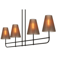 Sonneman Bistro 4 Light Pendant in Black Bronze 1964.32