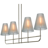 Sonneman Bistro 4 Light Pendant in Polished Nickel 1964.35
