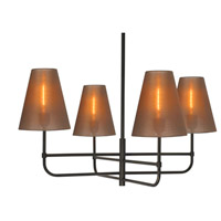 Sonneman Bistro 4 Light Pendant in Black Bronze 1965.32