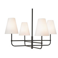 Sonneman Bistro 4 Light Pendant in Black Bronze 1965.32OL