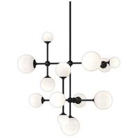 Sonneman 2064.25 Sabon LED 29 inch Satin Black Pendant Ceiling Light