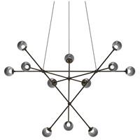 Sonneman 2082.37K Proton LED 40 inch Polished Black Nickel Pendant Ceiling Light