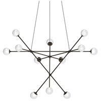 Sonneman 2082.37W Proton LED 40 inch Polished Black Nickel Pendant Ceiling Light