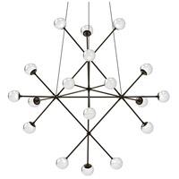 Sonneman 2084.37W Proton LED 40 inch Polished Black Nickel Pendant Ceiling Light