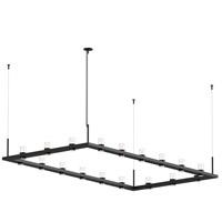 Sonneman 20QKR48B Intervals LED 104 inch Satin Black Pendant Ceiling Light