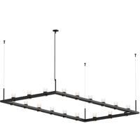 Sonneman 20QKR48C Intervals LED 104 inch Satin Black Pendant Ceiling Light