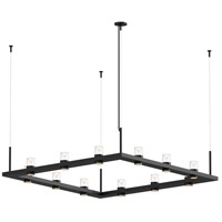 Sonneman 20QKS04B Intervals LED 56 inch Satin Black Pendant Ceiling Light