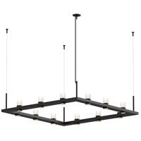 Sonneman 20QKS04C Intervals LED 56 inch Satin Black Pendant Ceiling Light