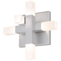 Connetix LED 8 inch Bright Satin Aluminum ADA Sconce Wall Light