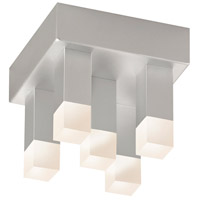 Sonneman Connetix 5 Light Pendant in Bright Satin Aluminum 2120.16