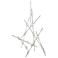 Constellation LED 25 inch Satin Nickel Pendant Ceiling Light in Clear Faceted