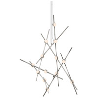 Constellation LED 25 inch Satin Nickel Pendant Ceiling Light in White Optical