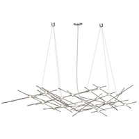Constellation LED 56 inch Satin Nickel Pendant Ceiling Light in Clear Faceted