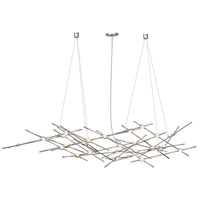 Constellation LED 56 inch Satin Nickel Pendant Ceiling Light in White Optical