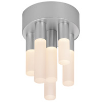 Staccato LED 5 inch Bright Satin Aluminum Pendant Ceiling Light
