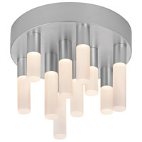Sonneman Staccato 10 Light Pendant in Bright Satin Aluminum 2221.16