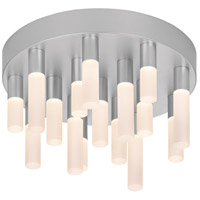 Staccato LED 12 inch Bright Satin Aluminum Pendant Ceiling Light