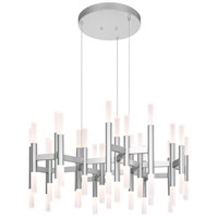Sonneman Sonata 48 Light Pendant in Bright Satin Aluminum 2238.16