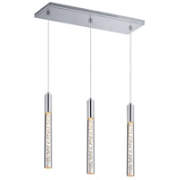 Sonneman Champagne Wands 3 Light Pendant in Chrome 2254.01