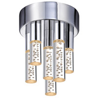 Sonneman Champagne Staccato 6 Light Pendant in Chrome 2260.01